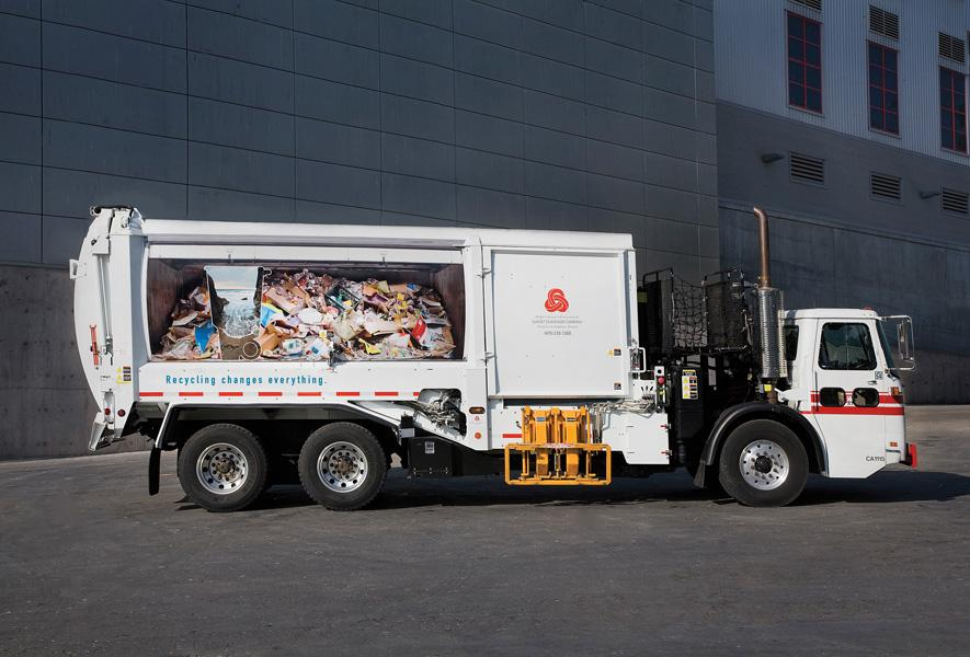 Norcal Print Ad -  Recycling Promotion, garbage truck, Stinson