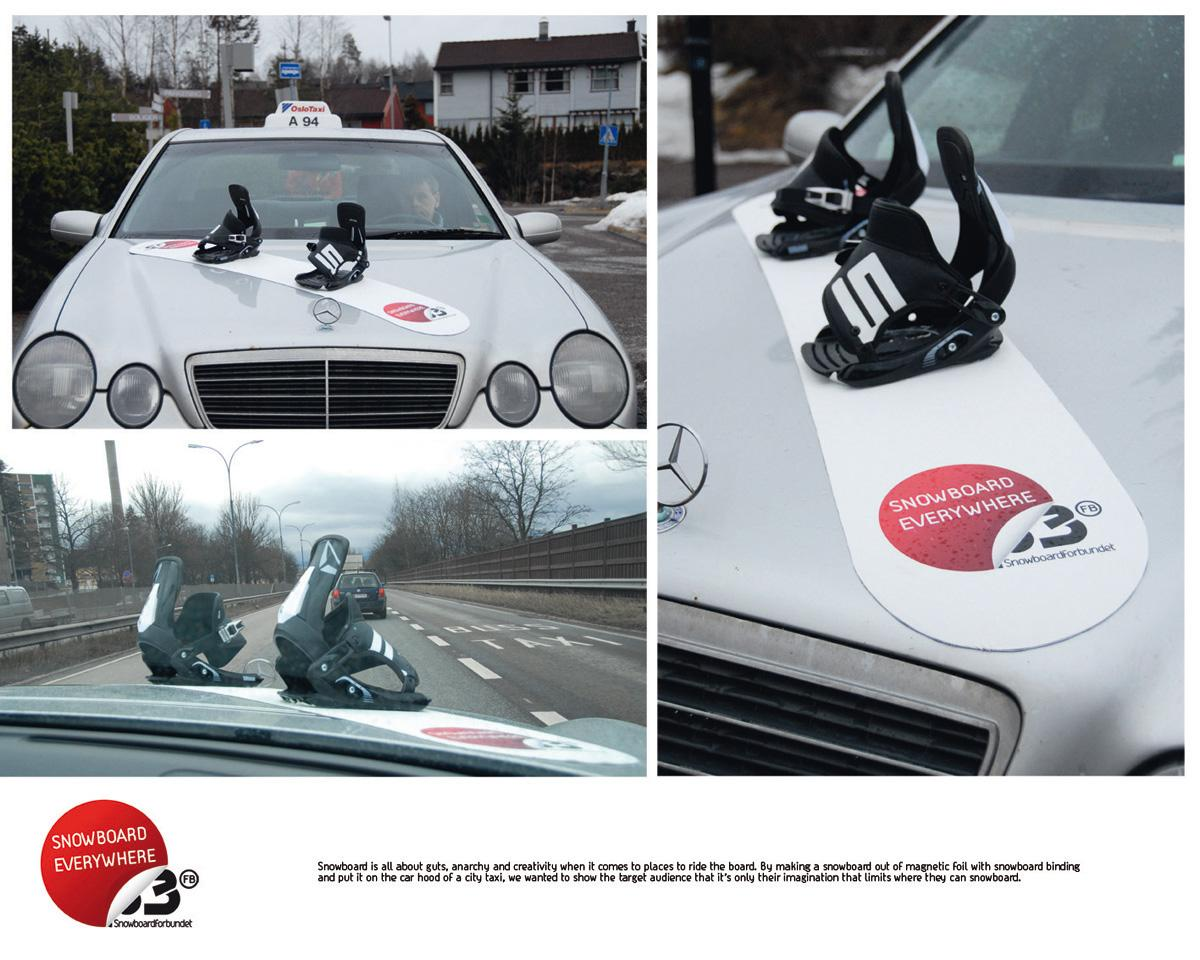 Norwegian Snowboard Association Ambient Ad -  Taxi