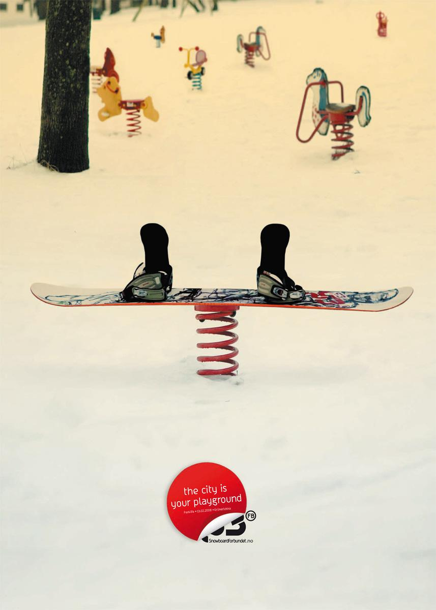 Norwegian Snowboard Association Print Ad -  Playground