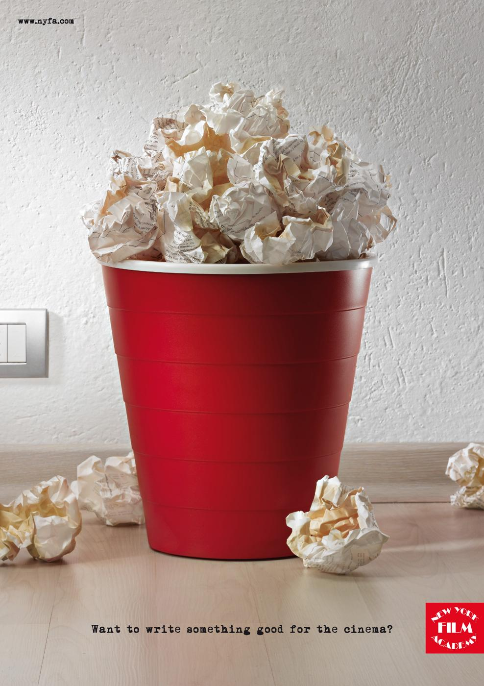 New York Film Academy Print Ad -  Popcorn