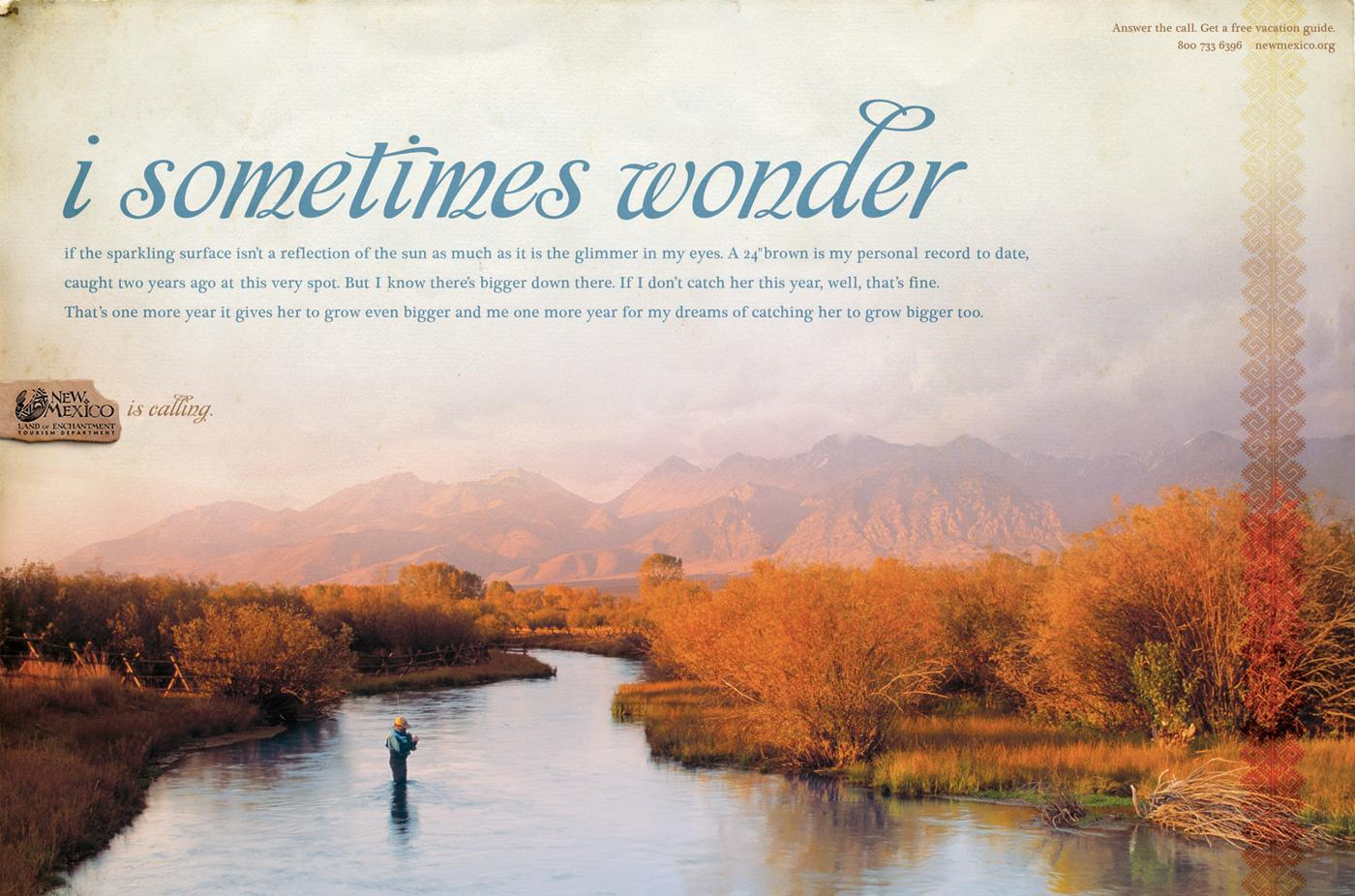 New Mexico Office of Tourism Print Ad -  Fishing