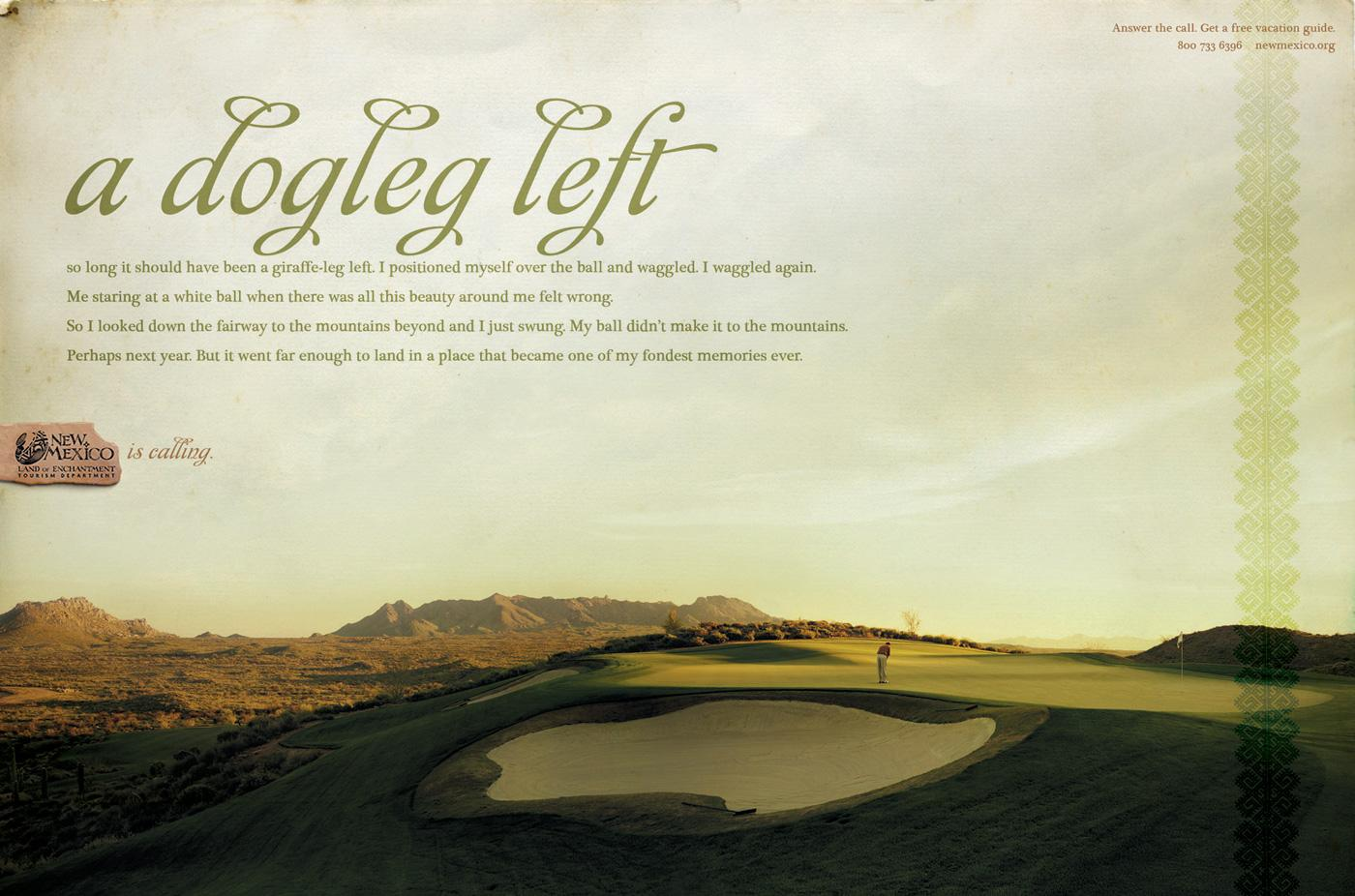 New Mexico Office of Tourism Print Ad -  Golf