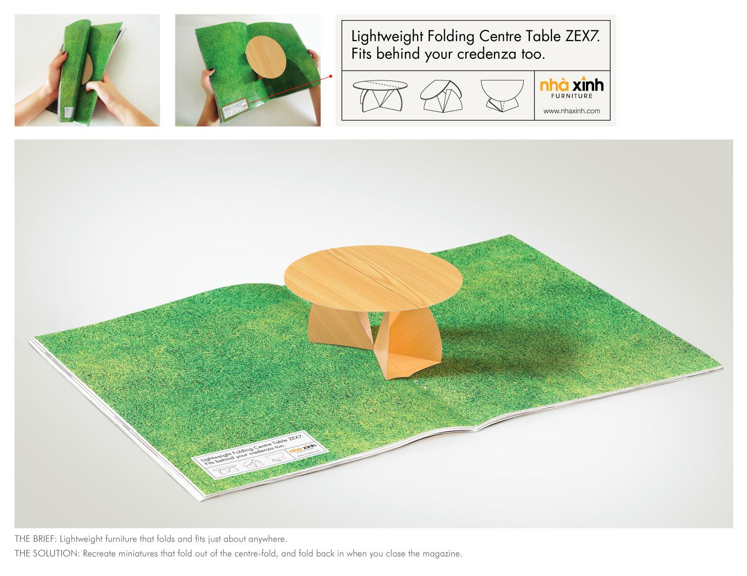 Nha Xinh Furniture Print Ad -  Folding Table