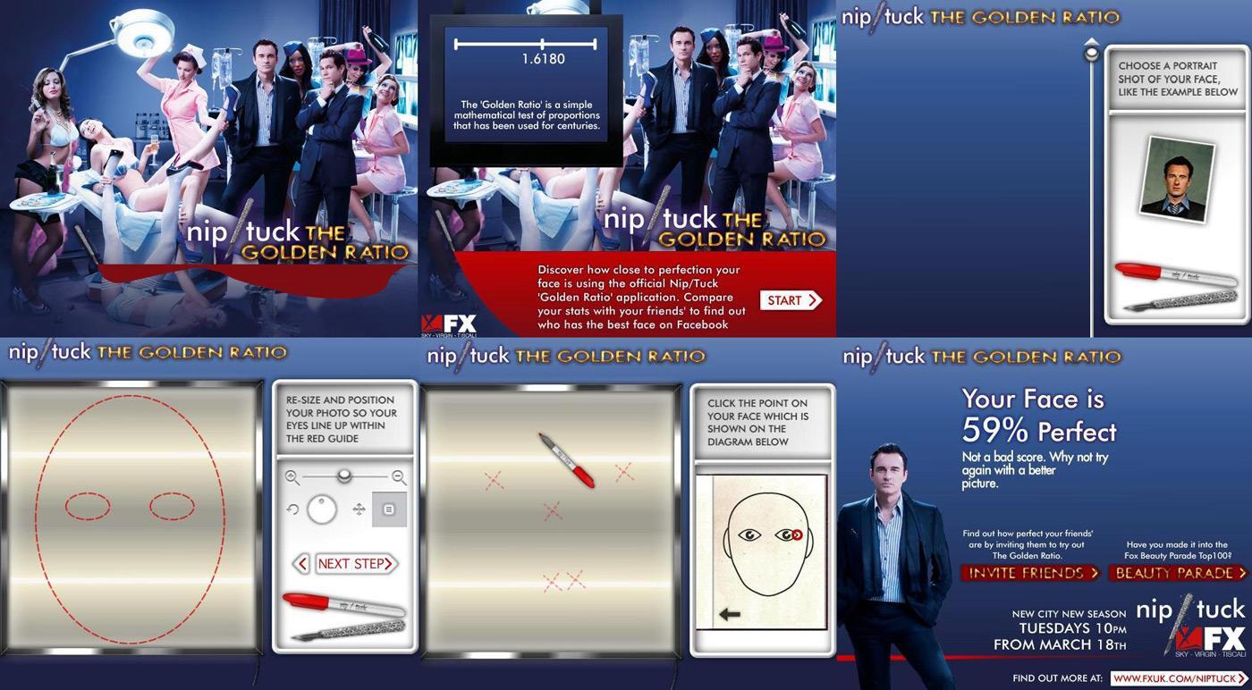 Nip/Tuck Digital Ad -  Facebook application