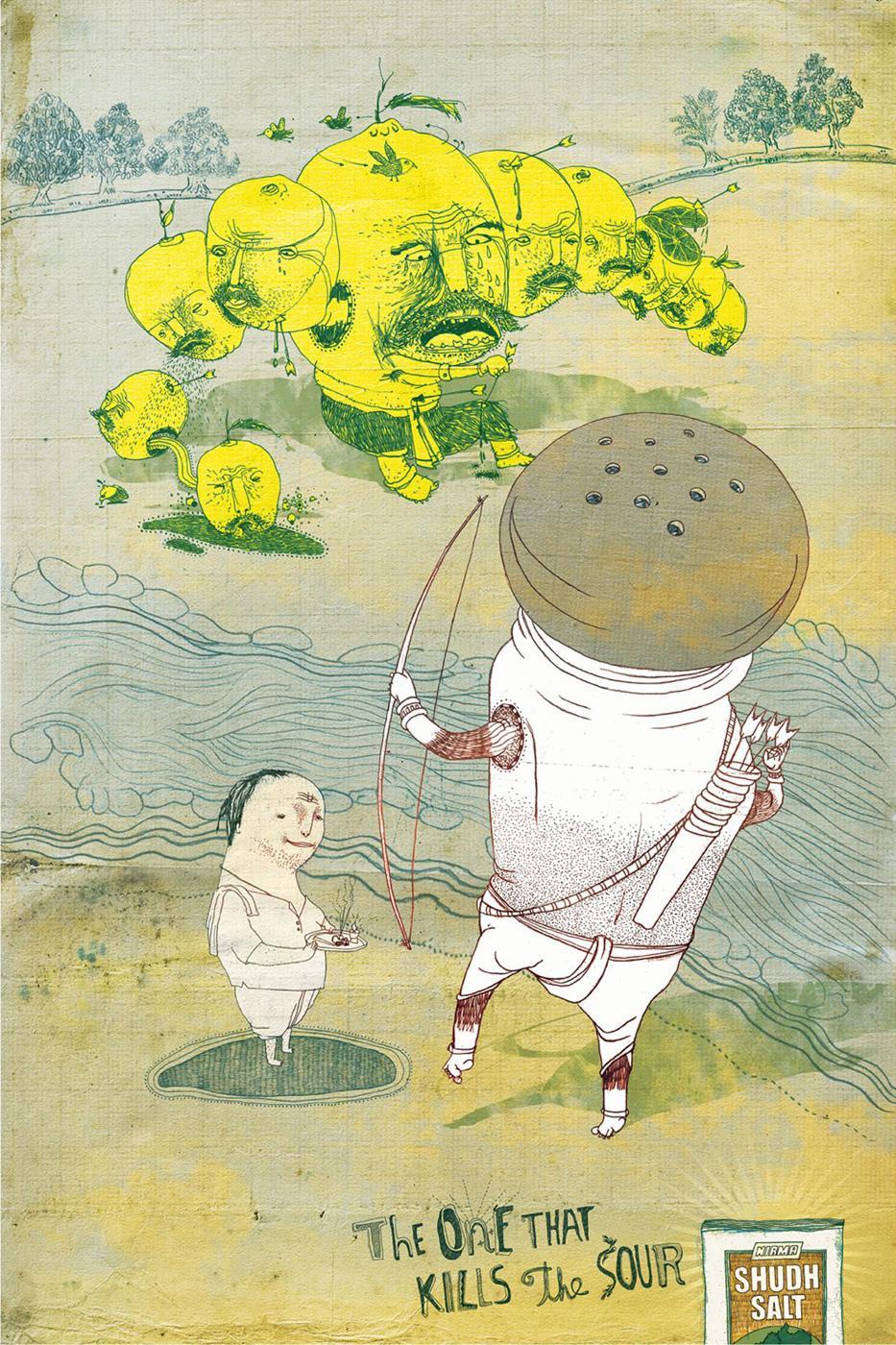 Nirma Shudh Salt Print Ad -  Sour