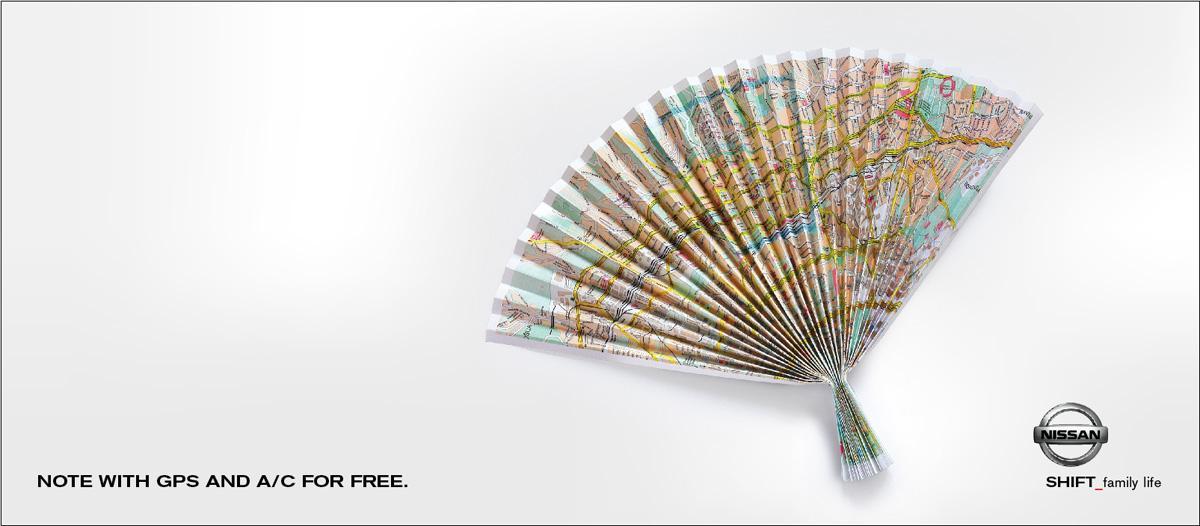 Nissan Print Ad -  Map