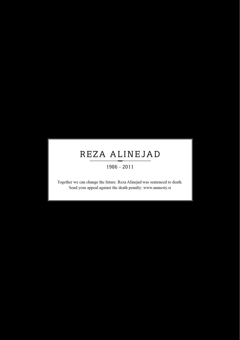 Amnesty International Print Ad -  Obituary, Reza Alinejad