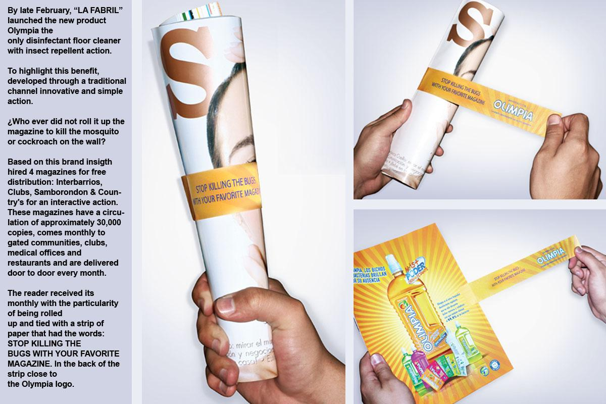 Olimpia Ambient Ad -  Magazine