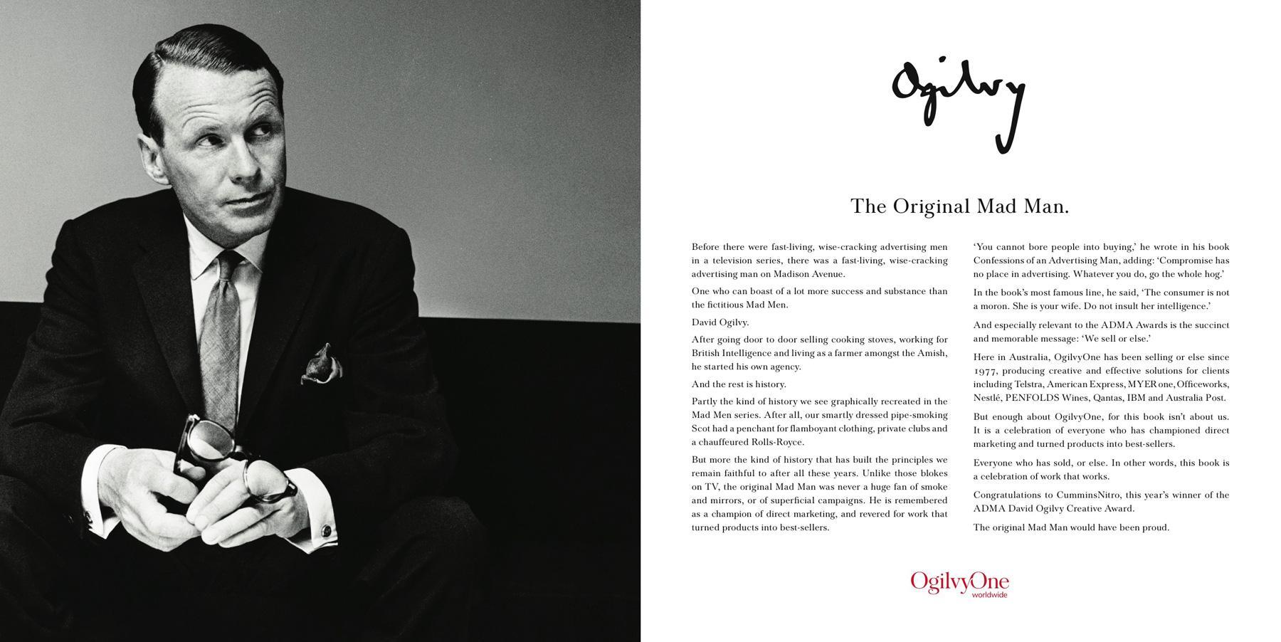 Ogilvy Print Ad -  The original Mad Man