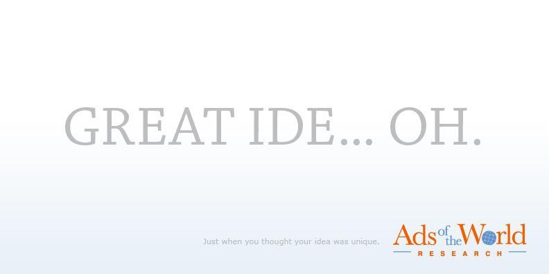 Ads of the World Print Ad -  Idea