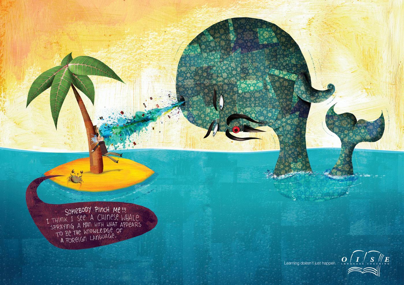 Oise Print Ad -  Whale