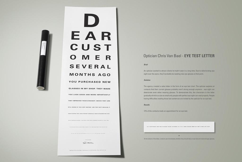 Eye test letter