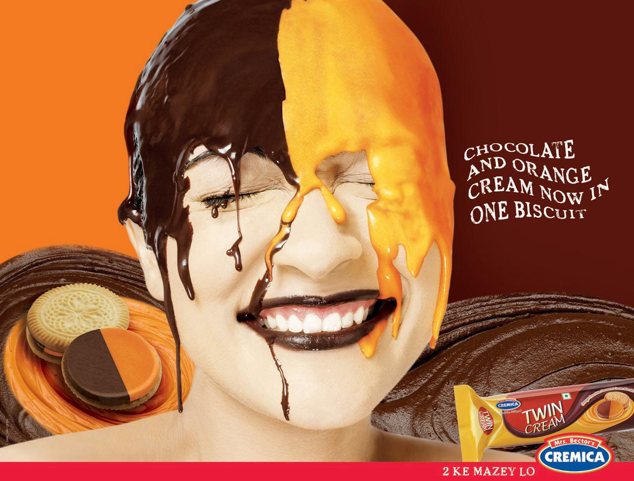 Cremica Print Ad -  Chocolate & Orange