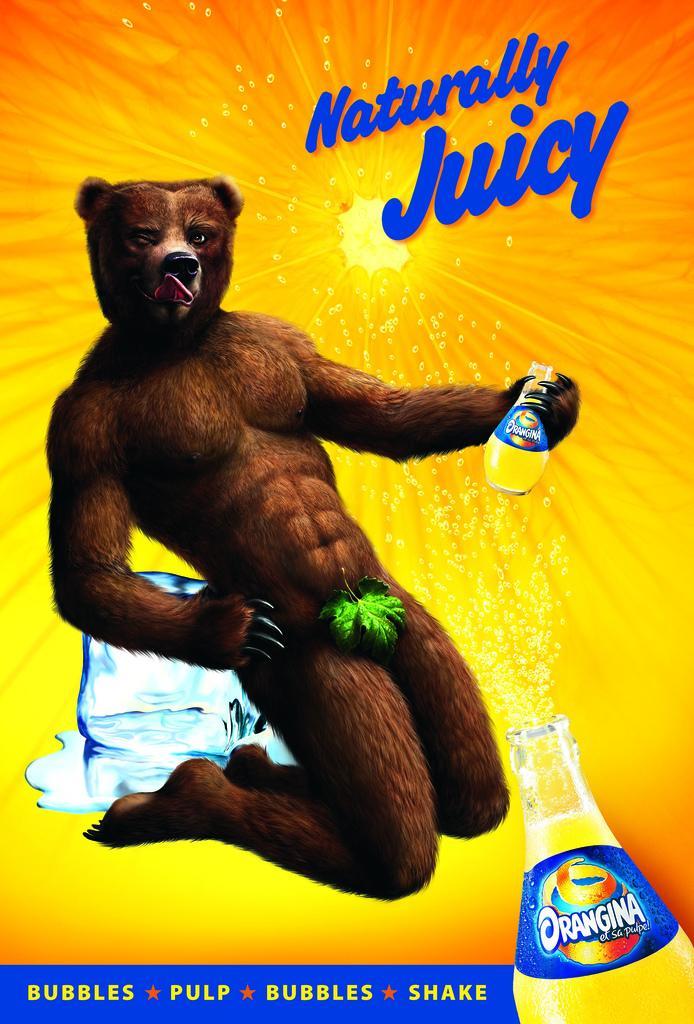 Orangina Print Ad -  Bear
