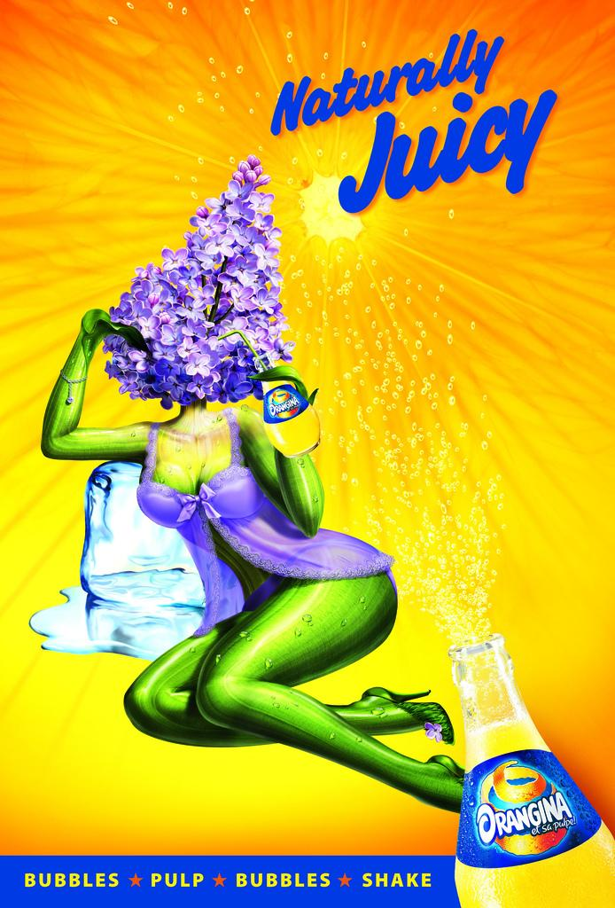 Orangina Print Ad -  Lilac