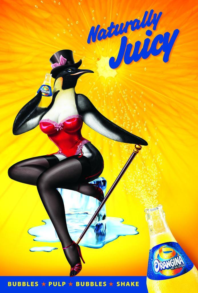 Orangina Print Ad -  Penguin