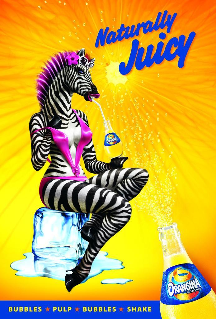 Orangina Print Ad -  Zebra
