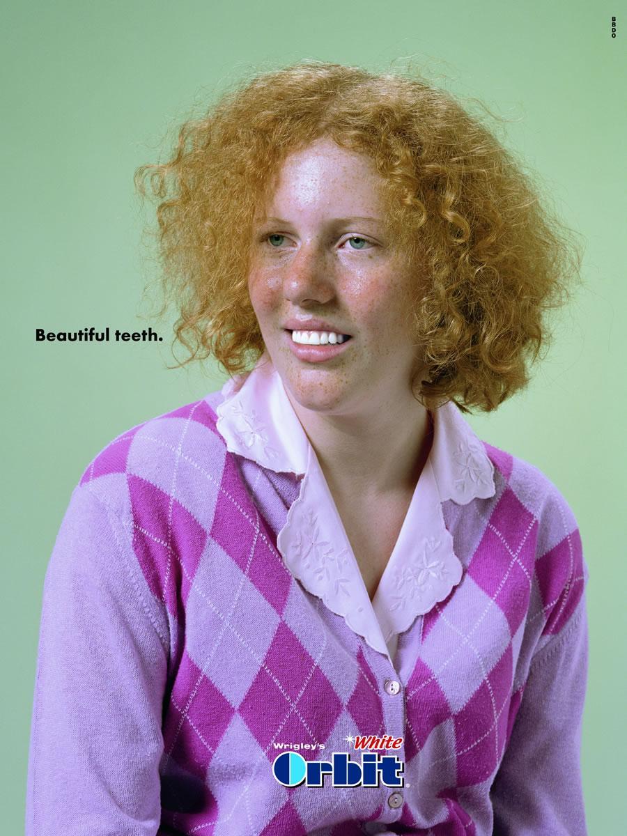 Beautiful teeth, girl