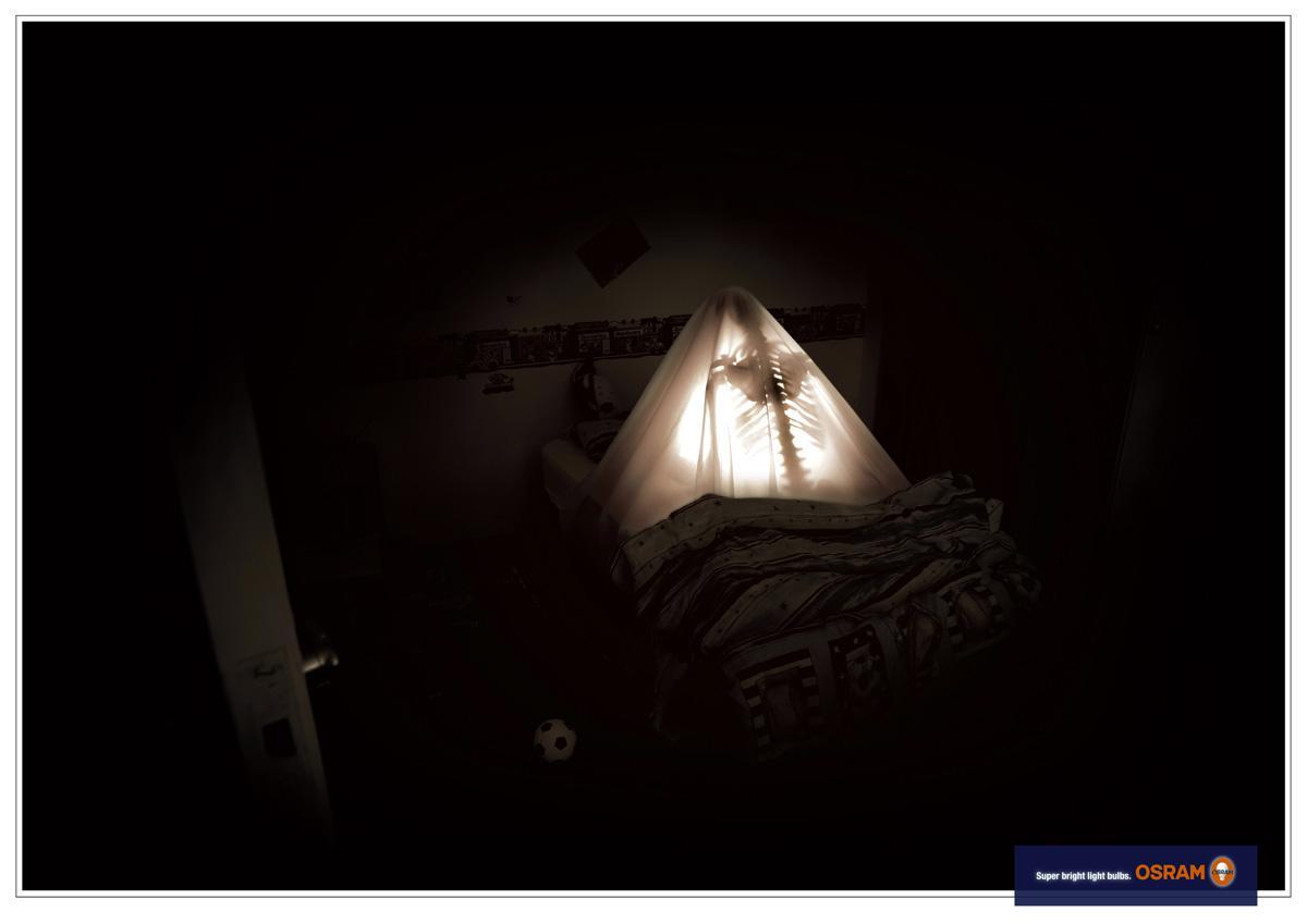 Osram Print Ad -  Reading in the dark