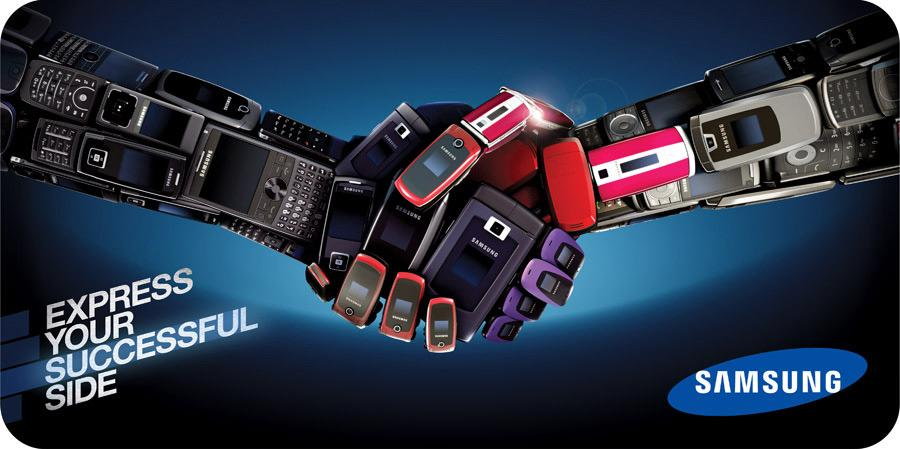 Samsung Print Ad -  Express Yourself, Handshake