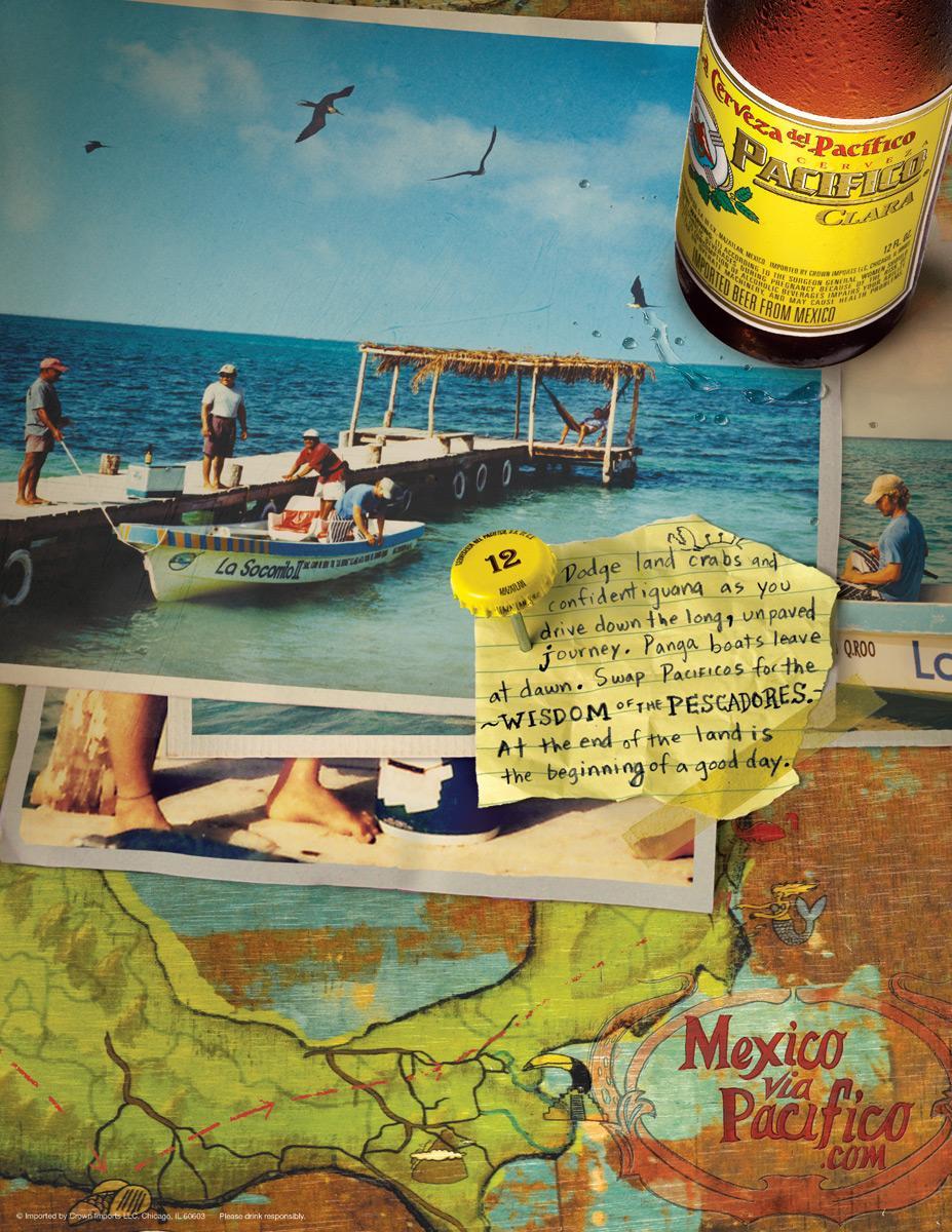 Pacifico Print Ad -  Fishing
