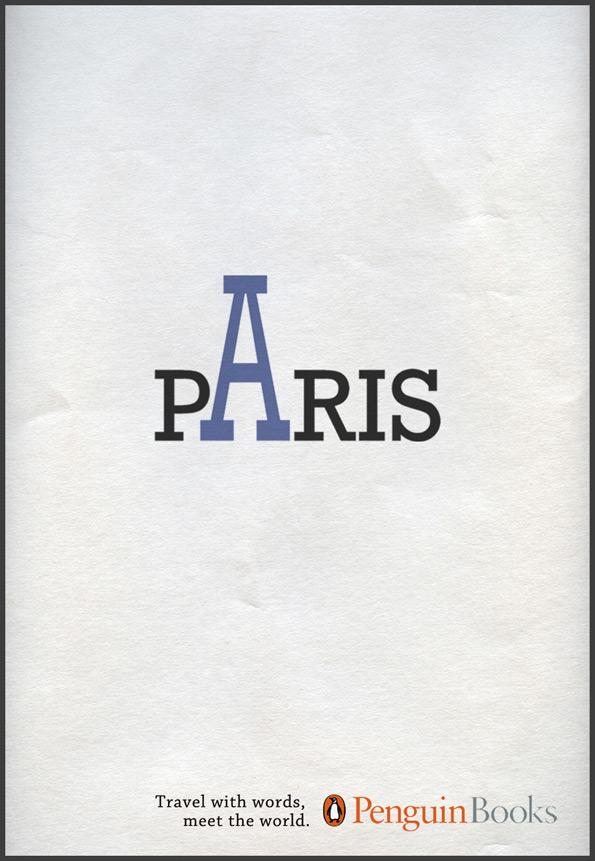 Penguin Print Ad -  Travel with words, Paris