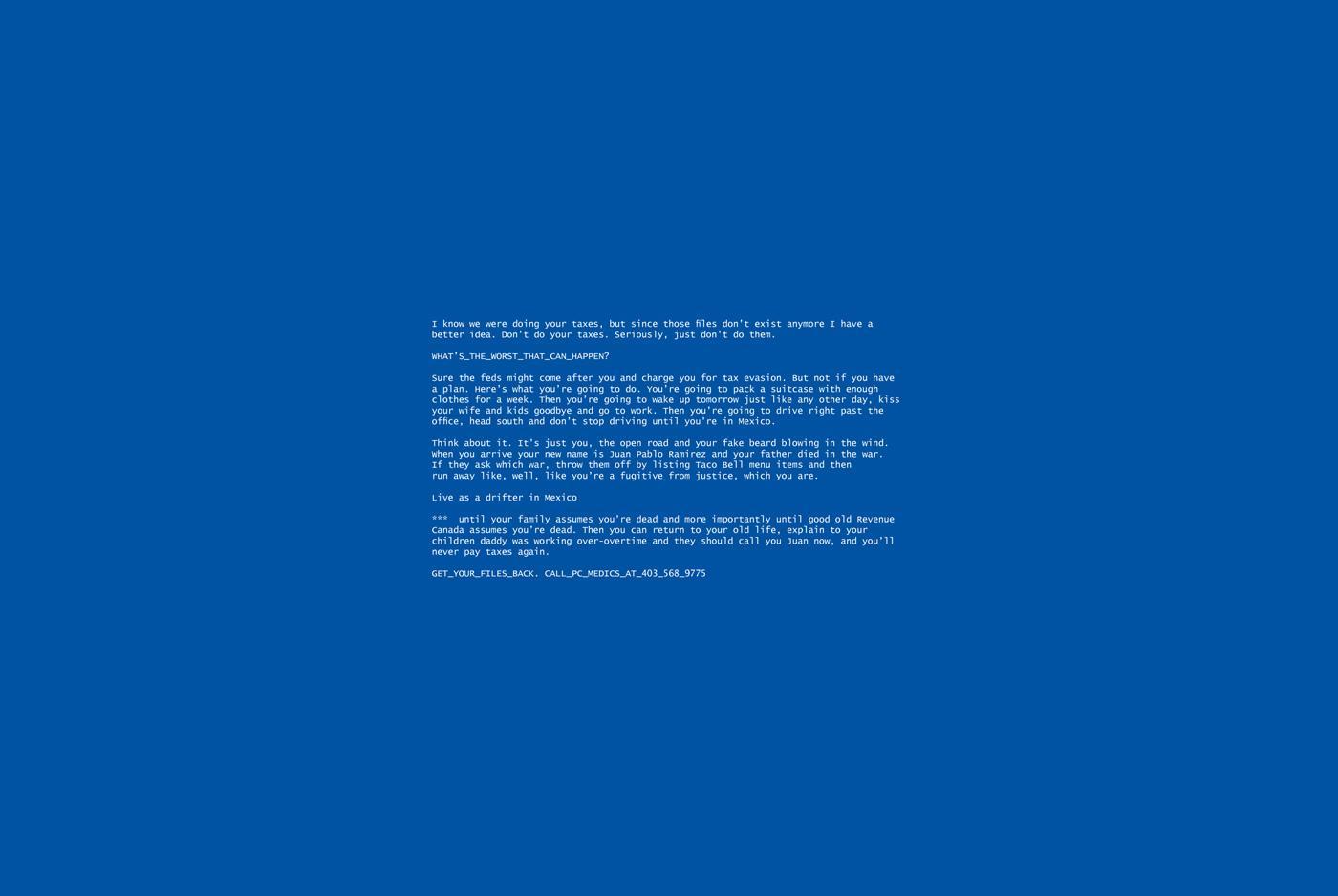 PC medic Print Ad -  Blue screen, 1