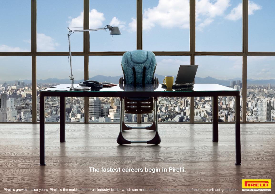 Pirelli Print Ad -  High-chair