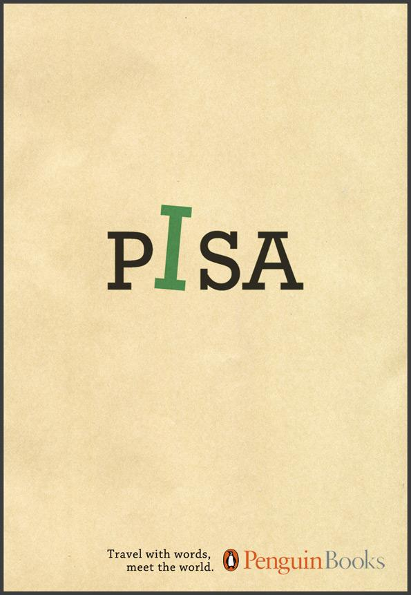 Penguin Print Ad -  Travel with words, Pisa