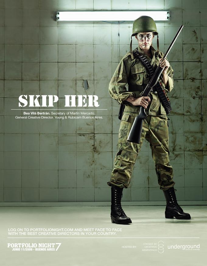 Portfolio Night Print Ad -  Soldier
