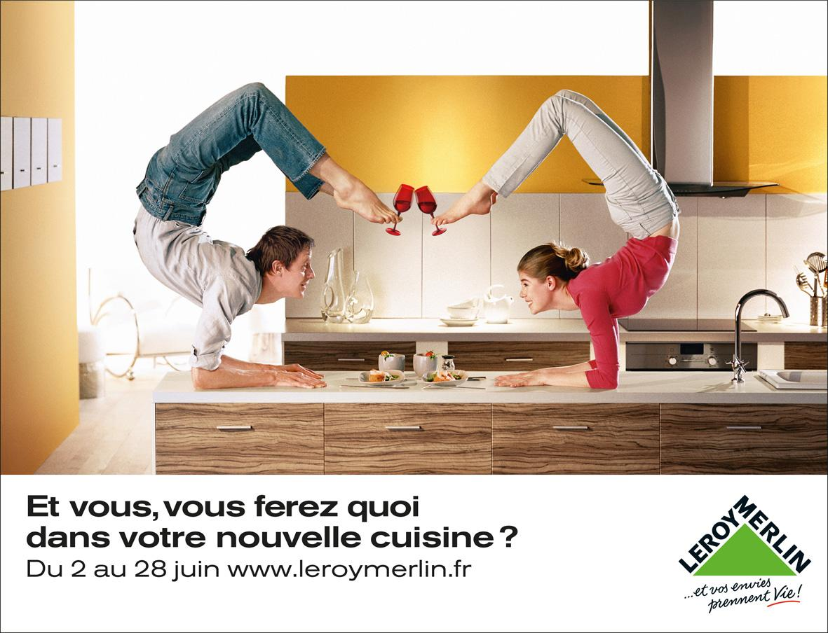 Leroy Merlin Print Advert By Kuryo: Contortionists | Ads of the World™