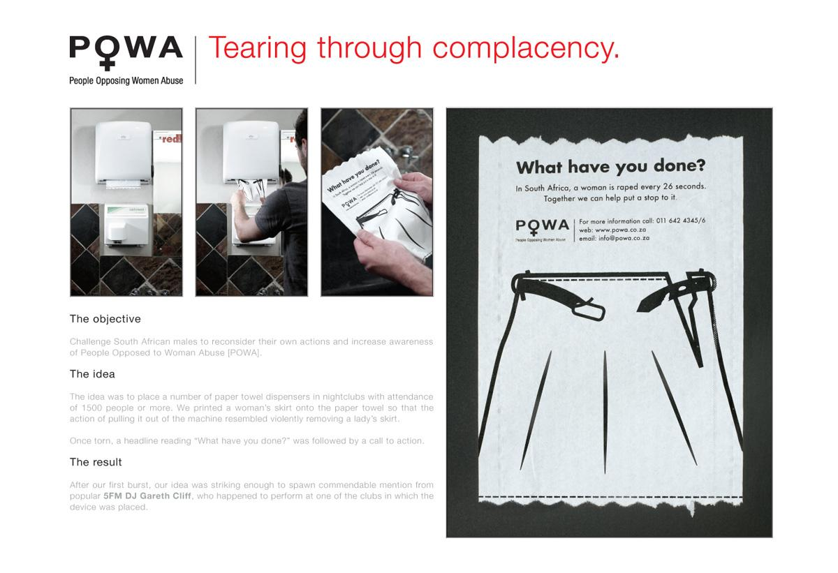 POWA Ambient Ad -  Paper towels