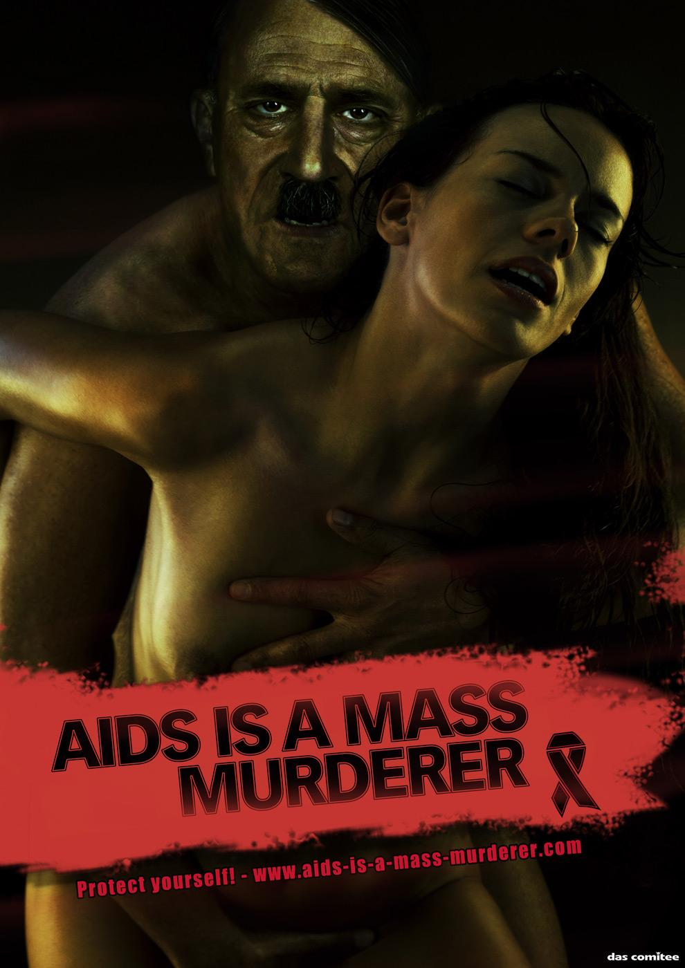 World AIDS Day Print Ad -  Hitler