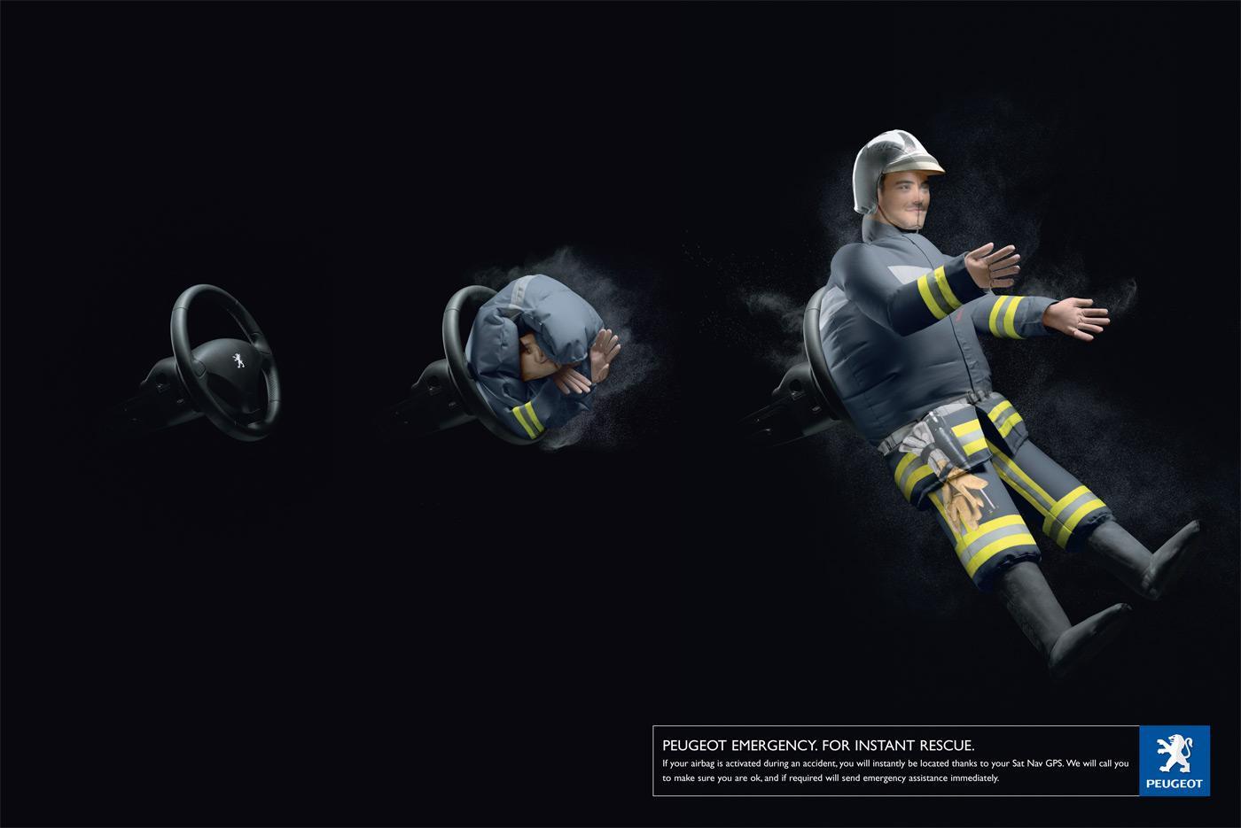Firefighter air-bag