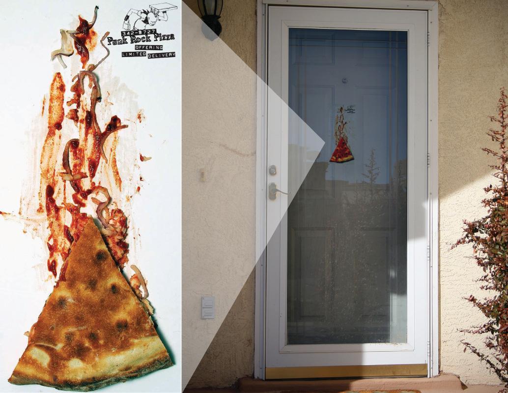Punk Rock Pizza Ambient Ad -  Door