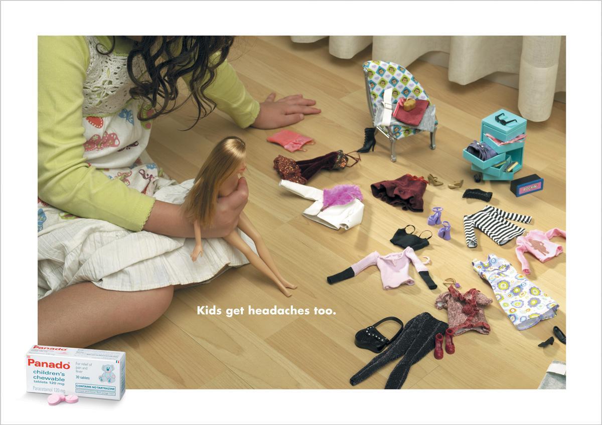 Panado Print Ad -  Barbie