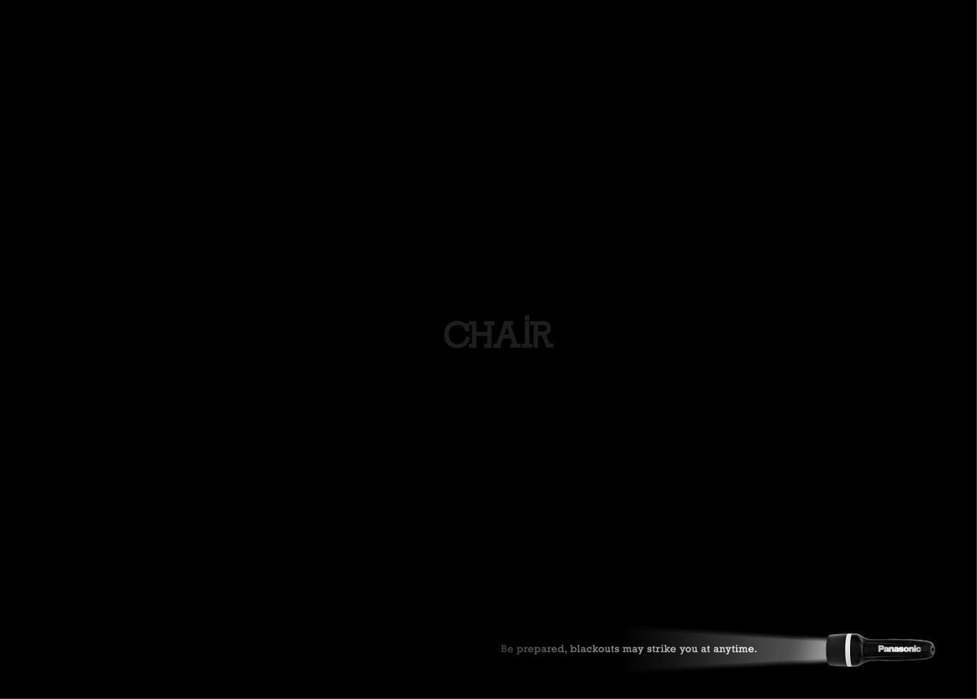 Panasonic Print Ad -  Chair