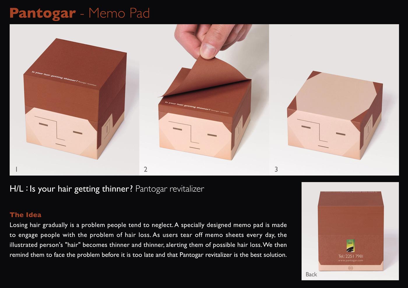 Pantogar Direct Ad -  Memo pad