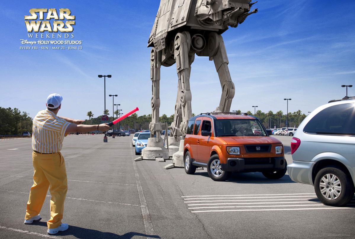 Disney Print Ad -  Parking lot