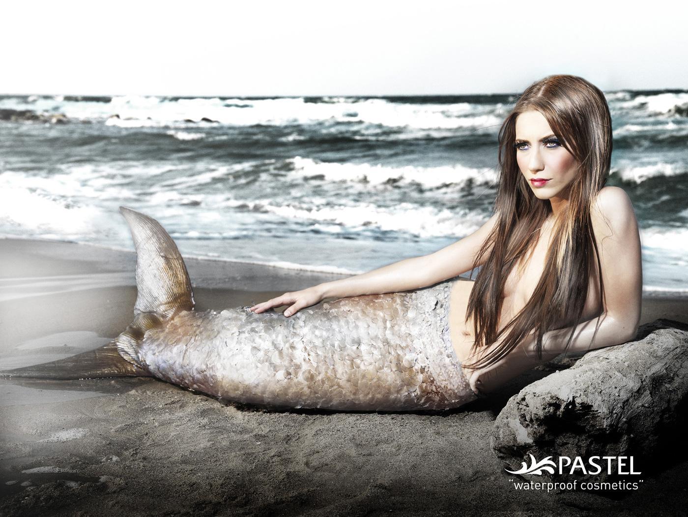 Pastel Cosmetics Print Ad -  Mermaid