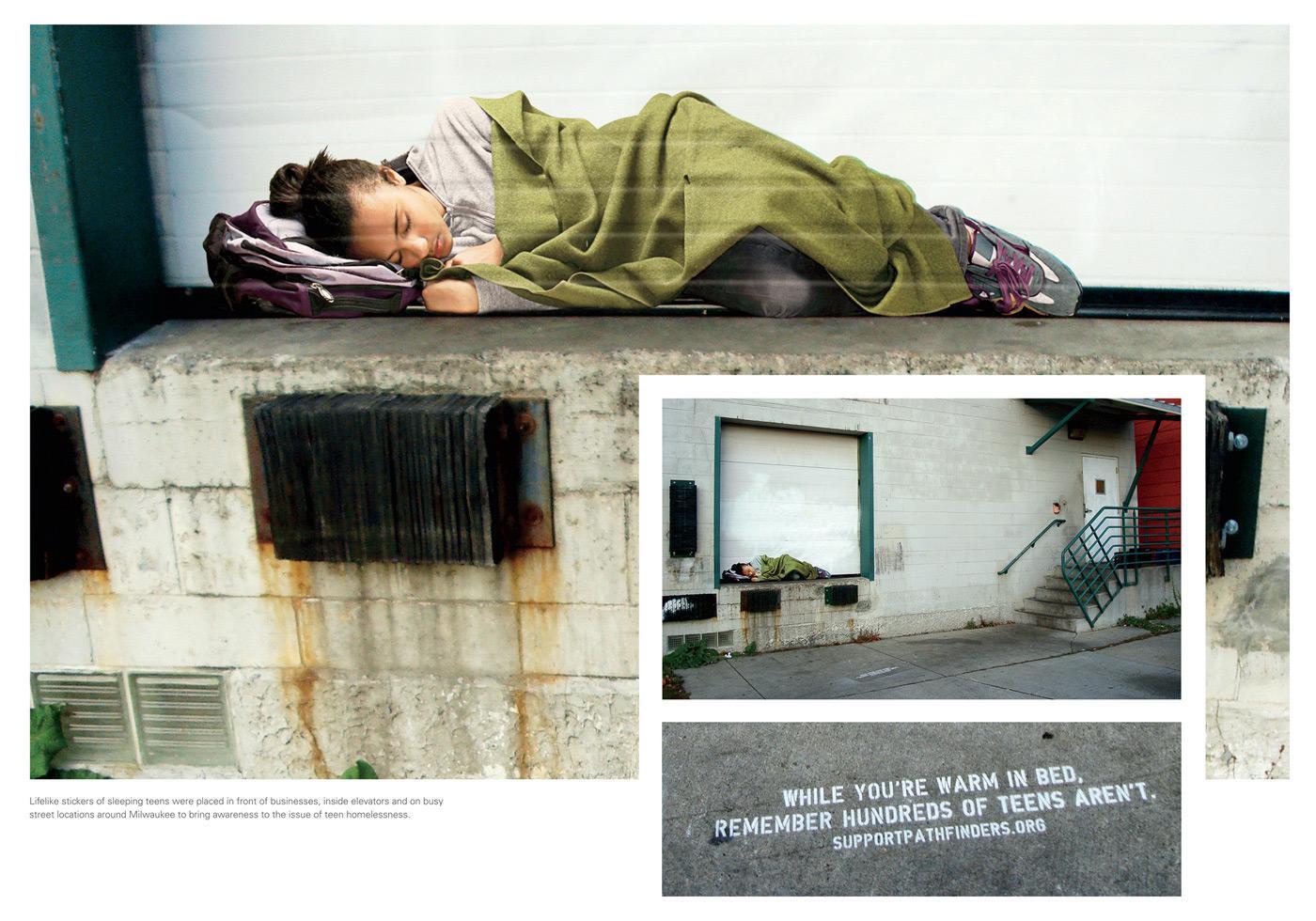 Pathfinders Outdoor Ad -  Homeless Teen, 2