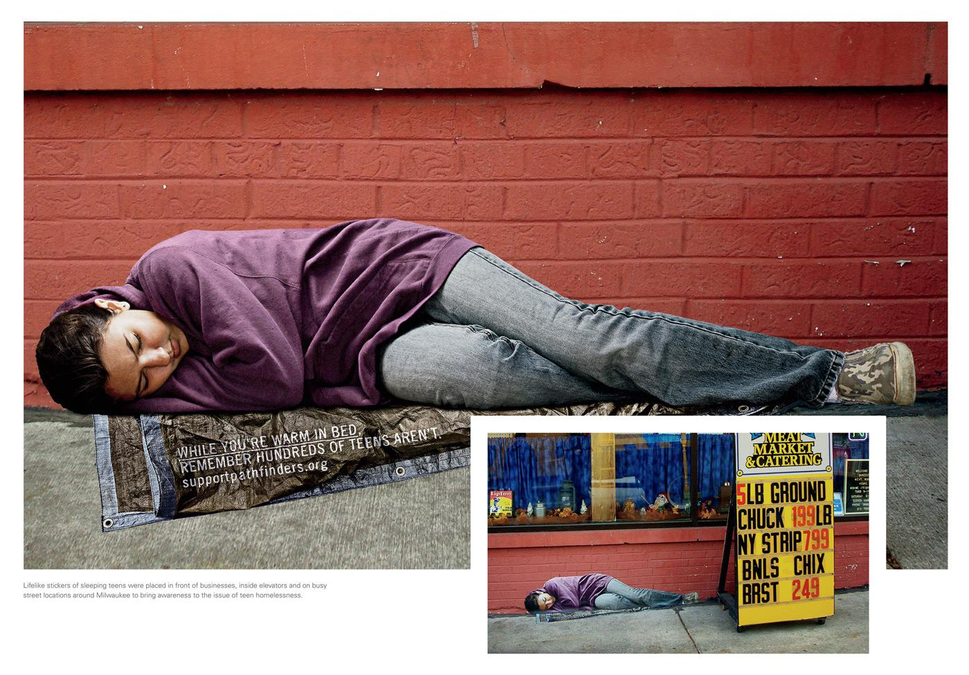 Pathfinders Outdoor Ad -  Homeless Teen, 4