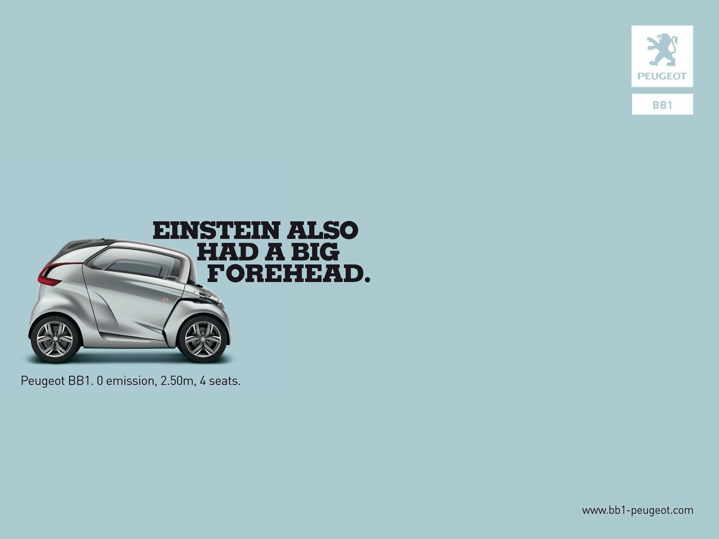 Peugeot Print Ad -  Einstein