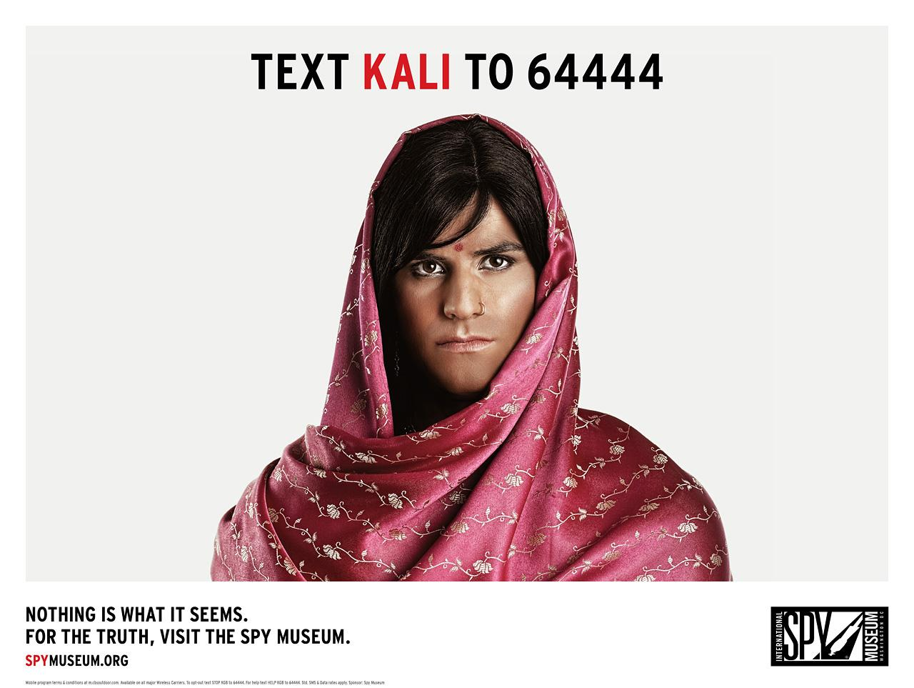 International Spy Museum Print Ad -  Deep Cover, Kali