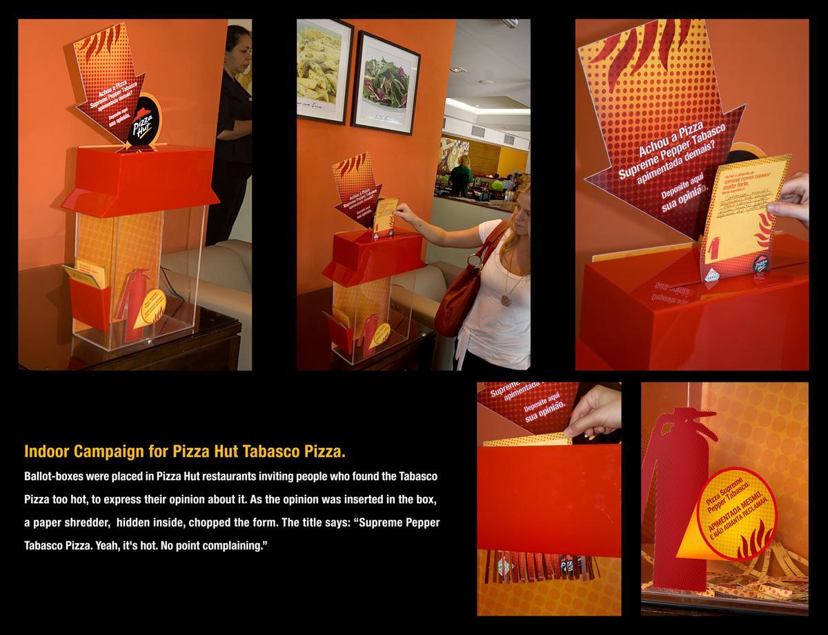 Pizza Hut Ambient Ad -  Supreme Pepper Tabasco Pizza