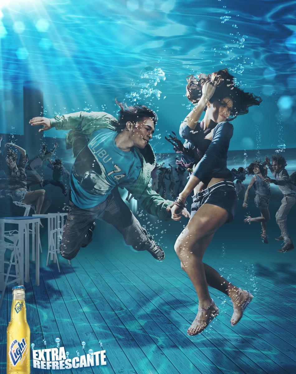 Polar Light Print Ad -  Submerged dance