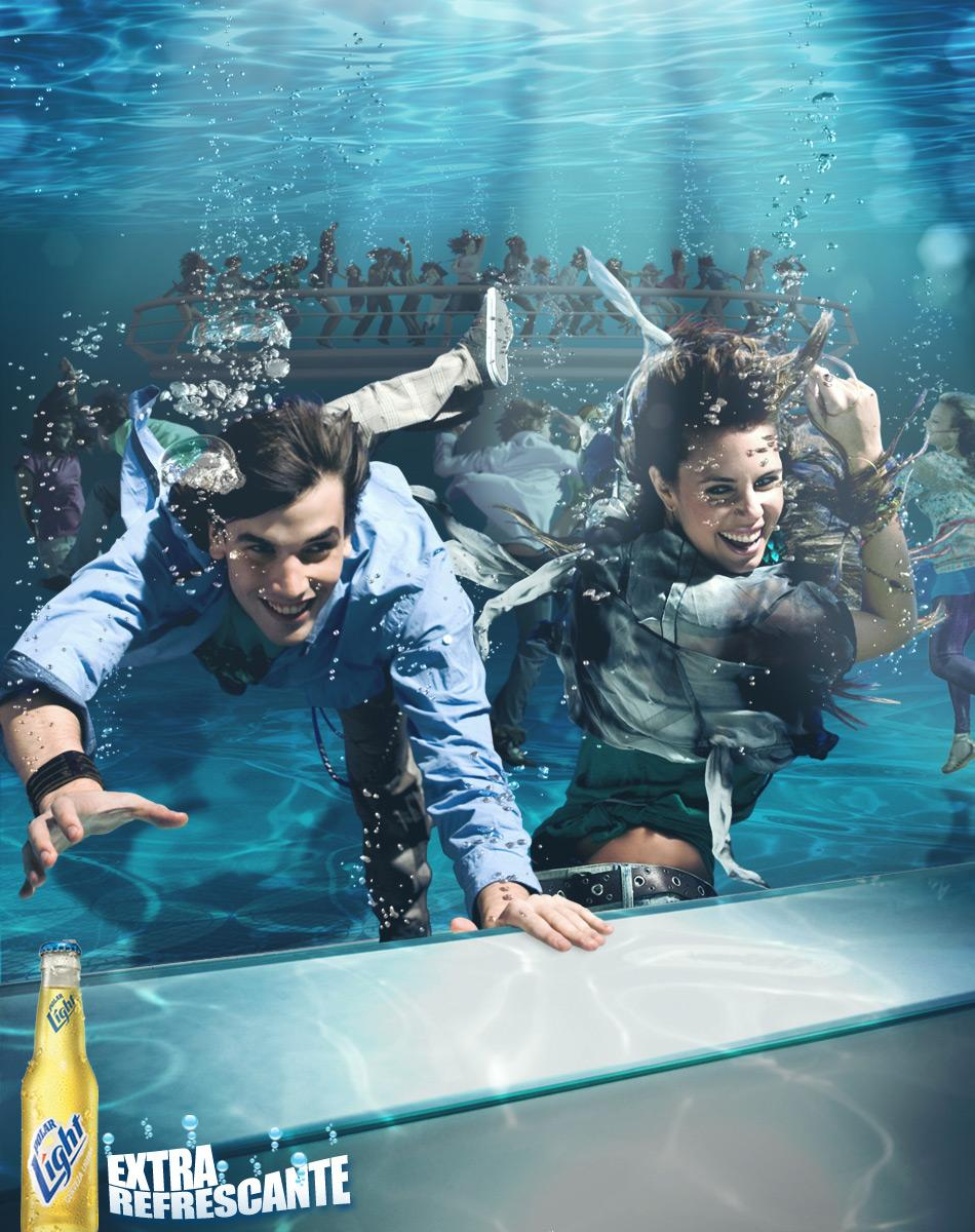 Polar Light Print Ad -  Submerged bar