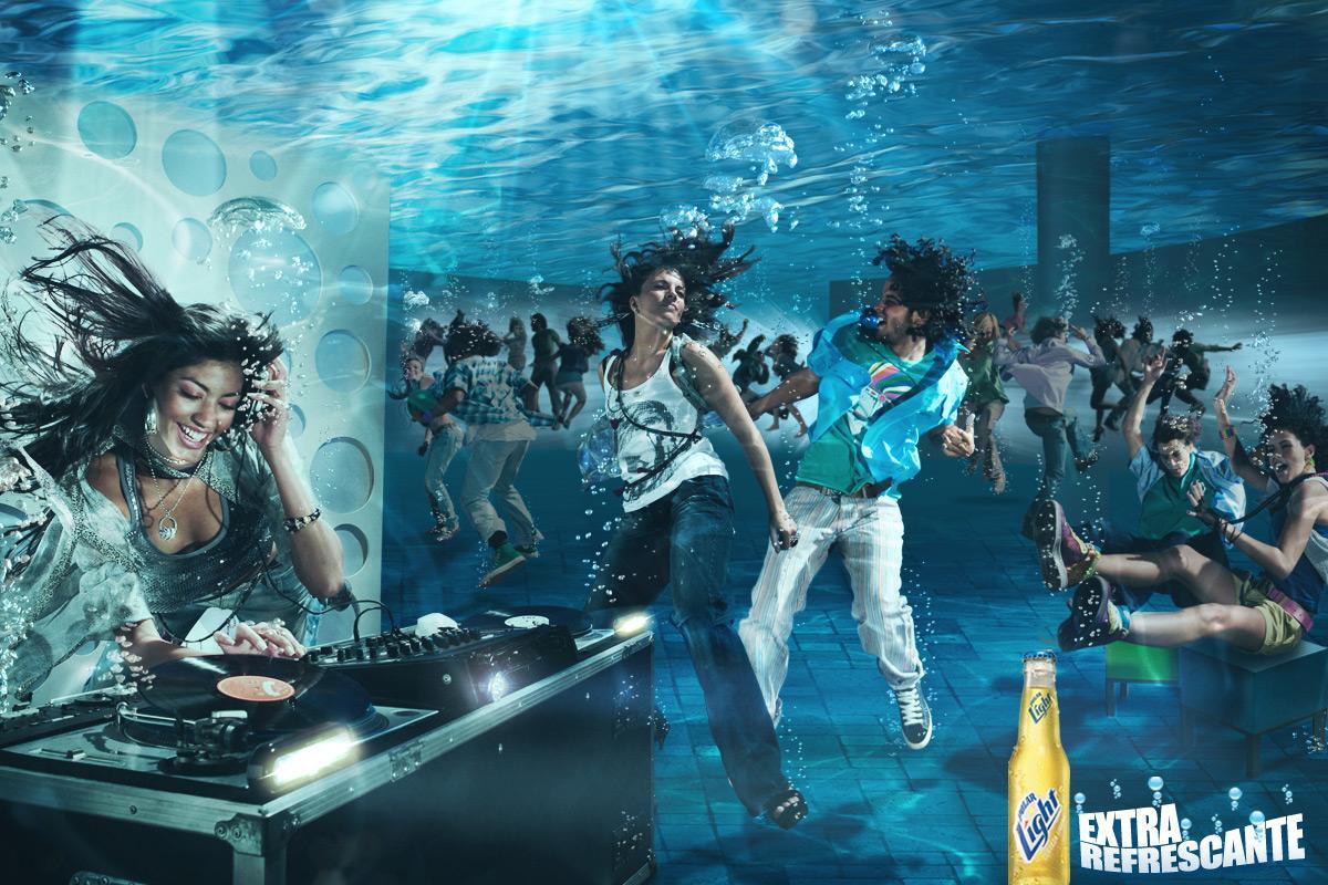 Polar Light Print Ad -  Submerged DJ
