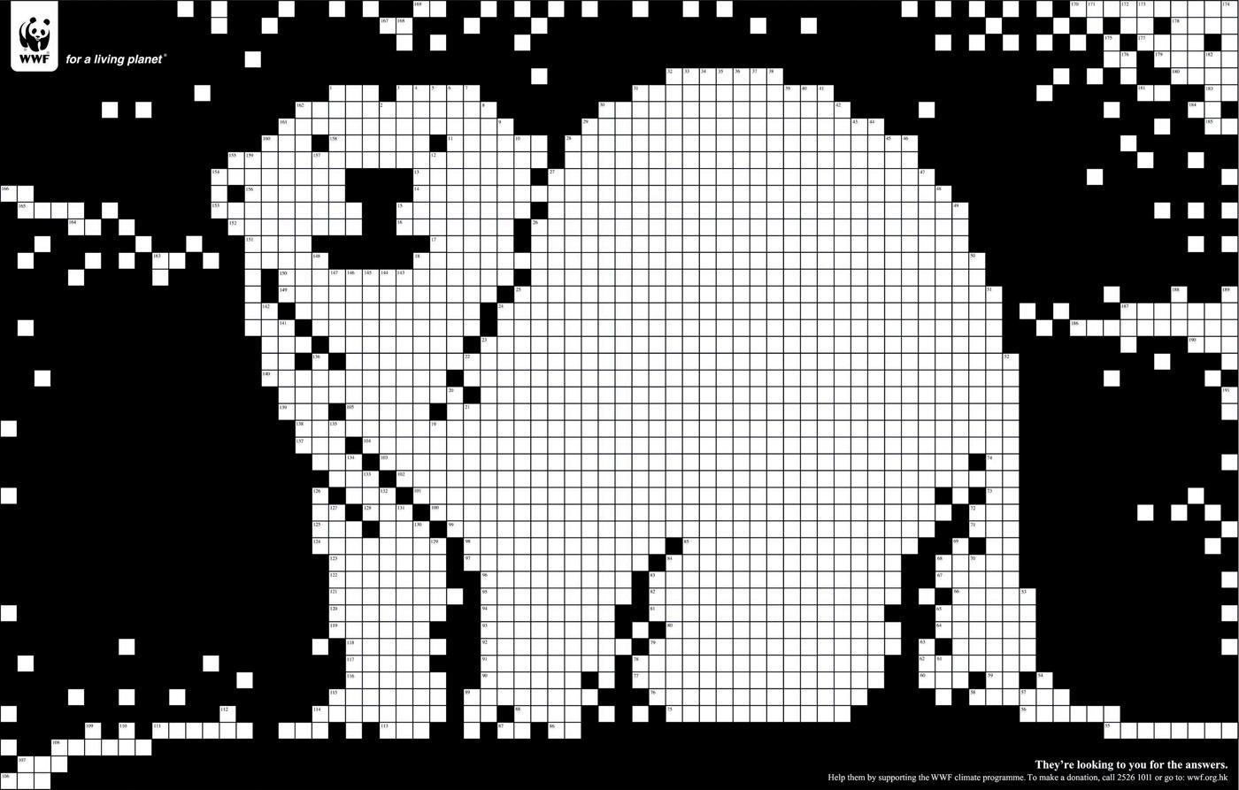 WWF Print Ad -  Crossword, Polar bear