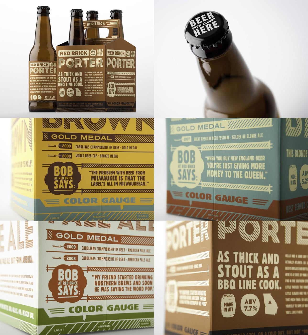 Red Brick Direct Ad -  Beer from around here, Packaging